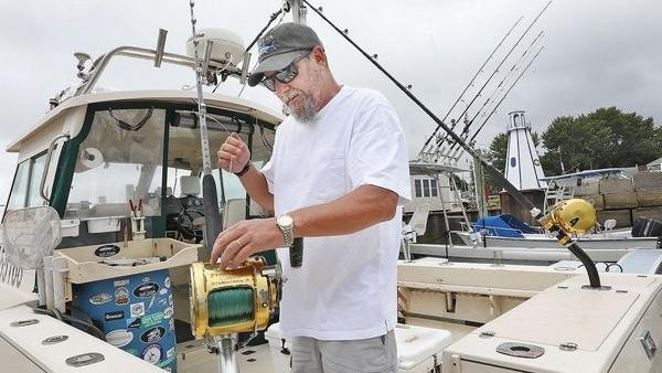 Captain Greg Ares, on the Rock-On in Green Harbor, is rigging to fish on Wednesday, July 15, despite an uncertain bluefin tuna market.