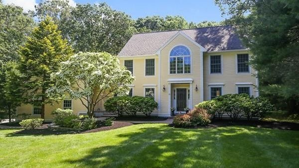 This 4-bedroom home at 30 Hunters Road in Boxford sits on more than 2 acres of land.