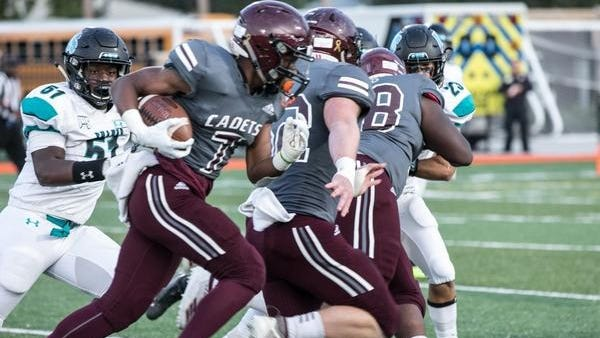Benedictine running back LeShon Brooks in action against Islands last year in a game at Memorial Stadium.