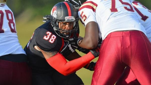 Former Gardner-Webb football standout Chad Geter is seen in this photo before leaving to play professionally in Canada.