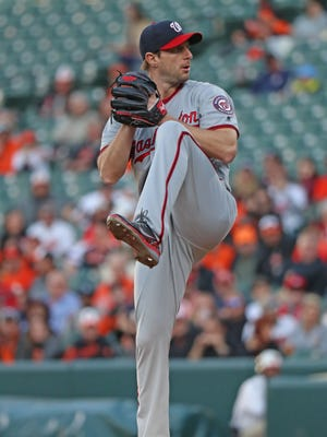 Max Scherzer leads the National League with 173 strikeouts.