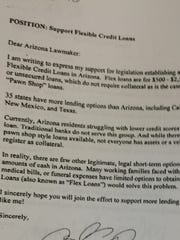 This petition was signed by several hundred Arizonans in support of flexible loans, but some signers say they didn't know the loans carried interest rates of 200 percent