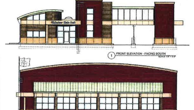 A rendering of Volunteer State Bank's proposed new Gallatin branch to be located at the corner of Tulip Poplar Drive and Nashville Pike.