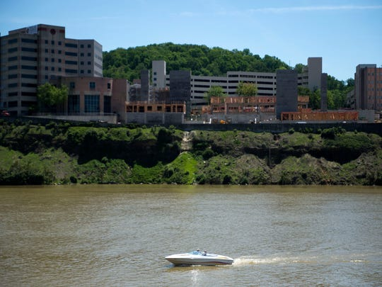 A boat sails down the Tennessee River on April 26, 2017. Changes to boating laws went into effect July 1 and change who can rent boats and how people should respond to law enforcement.