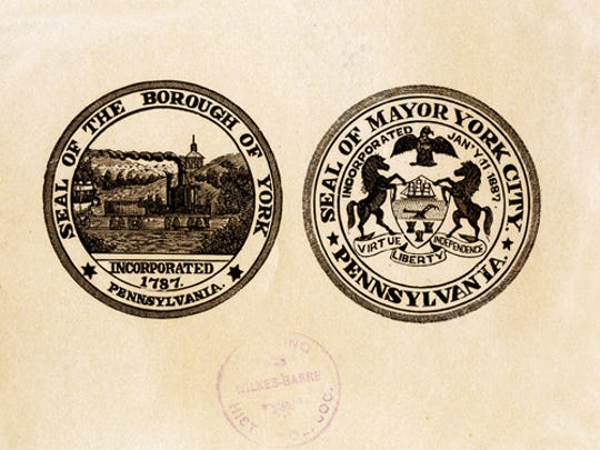 submittedfor jim's blogSeals of the Borough of York and the Mayor York City