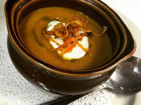 A current soup special at Porcini Italian Trattoria is curried carrot and apple.