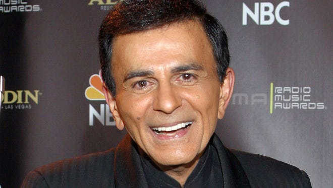 Casey Kasem poses for photographers after receiving the Radio Icon award during The 2003 Radio Music Awards at the Aladdin Resort and Casino in Las Vegas.