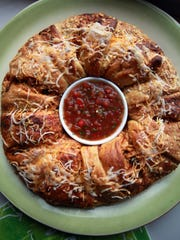 Chicken Enchilada Ring baked in the Detroit Free Press