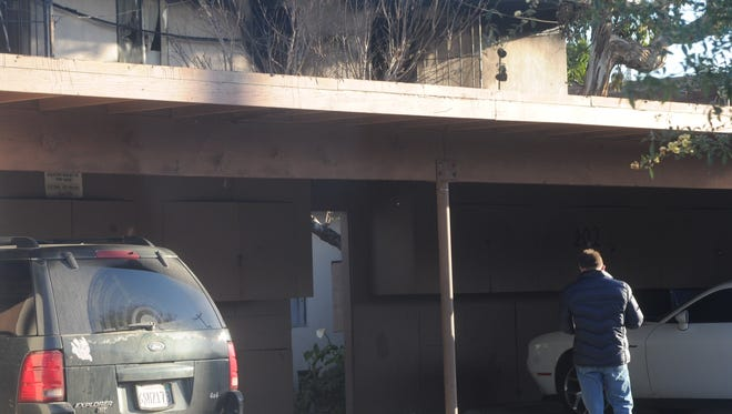This is the back of a Port Hueneme apartment building where two people died an an early morning fire Friday.