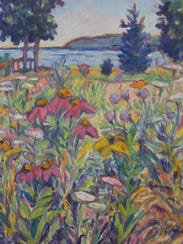 """""""Monarch Sanctuary,"""" oil painting by Lynn Gilchrist,"""