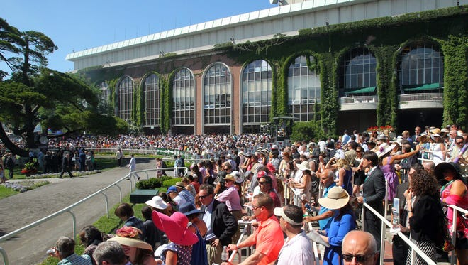 A general view of Belmont Park before the 146th running of the Belmont Stakes in 2014.