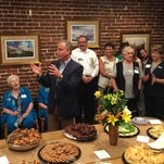 Scott Angelle, candidate for Louisiana governor, addresses a crowd at a meet and greet event in Opelousas Monday.
