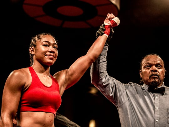 At 4-0, Fremont boxer Alycia Baumgardner is the first female signed to Holyfield Real Deal Promotions.