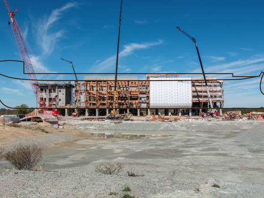Construction of the Ark Encounter.