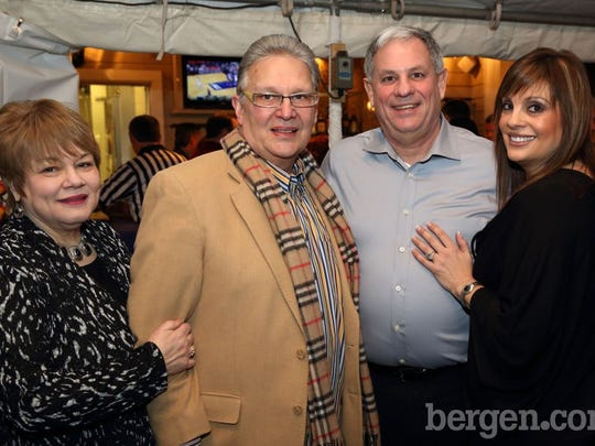 Linda Stellato; Lou Stellato; Bergen County Executive Jim Tedesco; Connie Salimbeno (Photo by Seth Litroff)