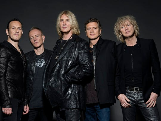 Def Leppard, from left, Vivian Campbell, Phil Collen, Joe Elliott, Rick Allen and Rick Savage.