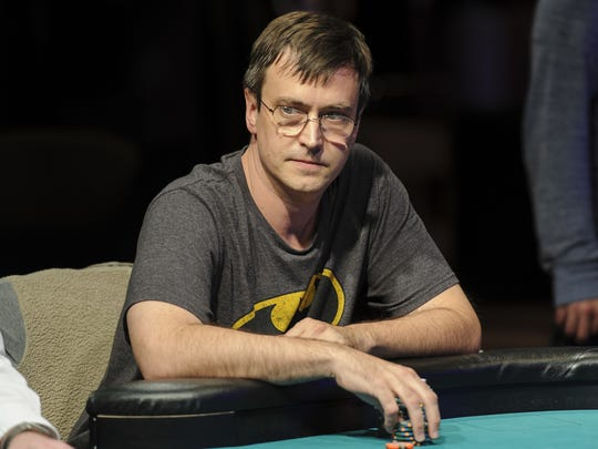 """Chris """"Bass Master"""" Greaves, 39, Zionsville, finished 12th in the World Series of Poker Main Event tournament in Las Vegas."""