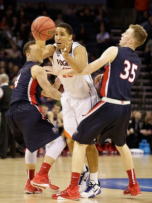 Malcolm Brogdon scored 22 in Virginia's win over Belmont.