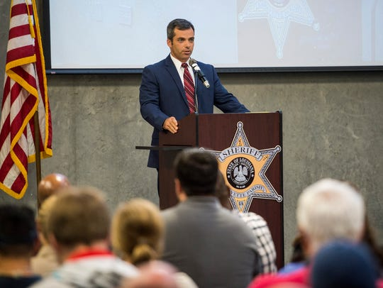 Lafayette Parish Sheriff candidate Mark Garber speaks
