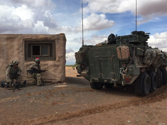 The 1st Brigade Combat Team did extensive training at Fort Bliss, culminating with the Iron Focus exercise in September. The brigade also did a rotation at the National Training Center at Fort Irwin, Calif., returning shortly before Thanksgiving.