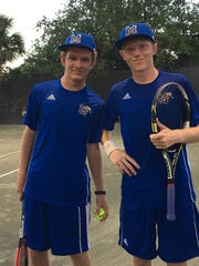 Ryan and Joshua Glaspey, the No. 1 doubles team from