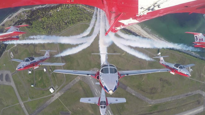 The Royal Canadian Air Force Snowbirds.