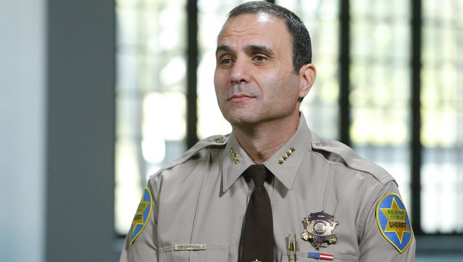 Maricopa County Sheriff Paul Penzone prior to taking the oath of office at the Heard Museum in Phoenix on Jan. 4, 2017.