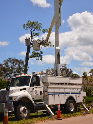 FPL continues to work to restore power around the county.