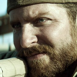 "Bradley Cooper portrays Navy SEAL Chris Kyle in a scene from ""American Sniper."""