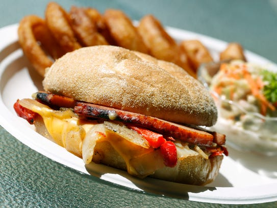 Fried bologna at the Charcoal Corral in Perry.