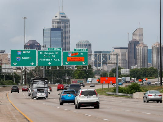 Interstate 65 construciton downtown Indianapolis