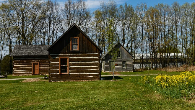 Log cabins on Oneida tribal land in Green Bay were built by the first Oneida to arrive in Wisconsin, almost two centuries ago.