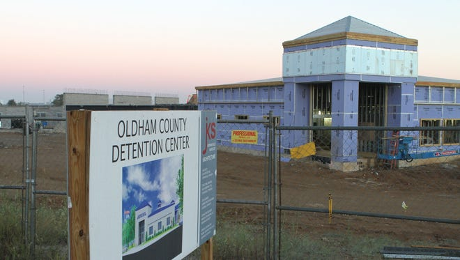 The new Oldham County Detention Center is well under construction along 146 between Buckner and Lagrange.