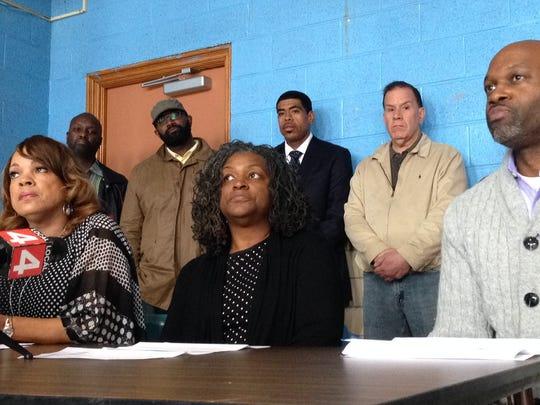 Detroit Federation of Teachers officials Ann Mitchell