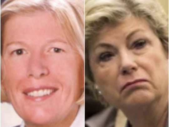 Martin County Commissioner Sarah Heard, left, and former Commissioner Anne Scott