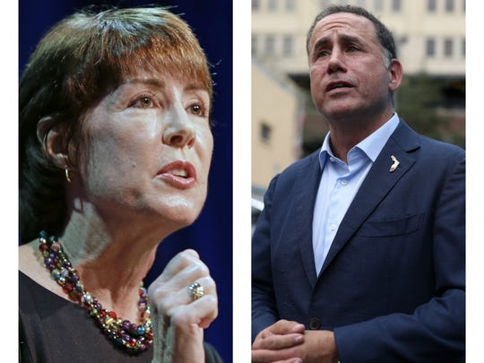 Gubernatorial candidates Gwen Graham (left) and Philip Levine