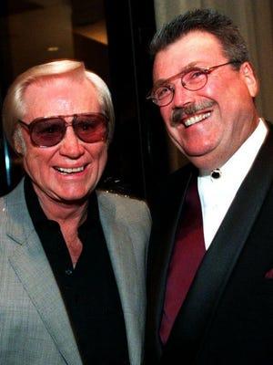 George Jones, left, and Norro Wilson circa 1996