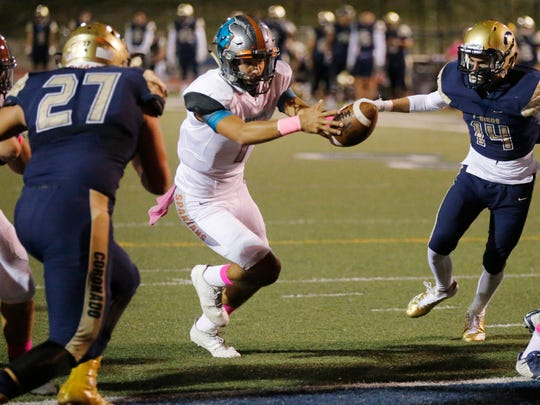 The Pebble Hills Spartans scored a win key District 1-6A game Friday night over Coronado and remain undefeated at 5-0. Their next opponent will be Americas High School.