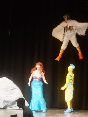 """Students perform in the Lakeland High School production of Disney's """"The Little Mermaid """" Feb 25, 2017."""