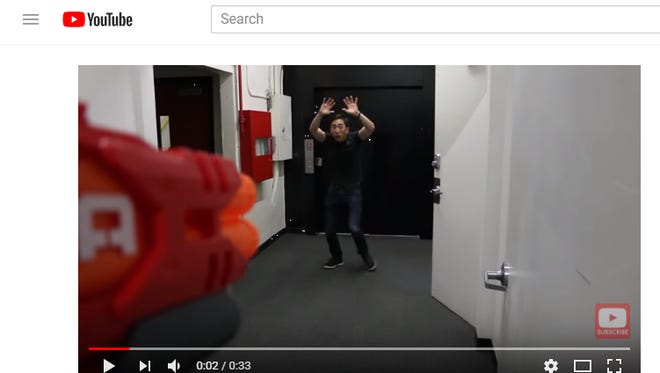 In a video, YouTube personality Ian Kung satirizes the Mesa police shooting of an unarmed man. Kung called for viewers to donate to a fundraising site set up by the man's widow.
