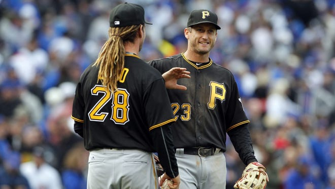"""David Freese said there were days it was """"hard to get out of bed"""" before meeting his wife."""
