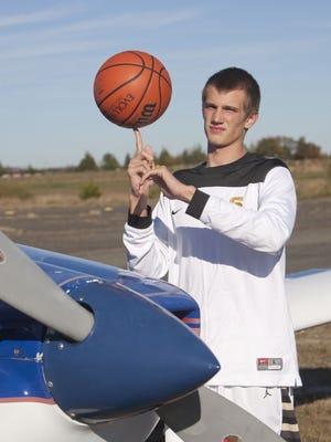 HS basketball player Jake Logue, Southern, at Monmouth Airport - October 27, 2014-Wall, NJ. Staff photographer/Bob Bielk/Asbury Park Press