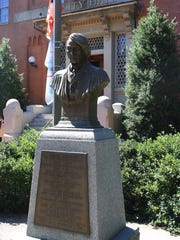 A bust of former U.S. Supreme Court Chief Justice Roger B. Taney remains in front of City Hall in Frederick, Maryland. On Oct. 1, Alderwoman Donna Kuzemchak will propose the bust's removal for the third time due to Taney's storied past in deciding the Dred Scott v. Sandford case.