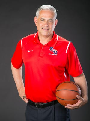 Small schools boys basketball coach of the year Bob Fredericks of Scottsdale Christian is seen on Thursday, March 17, 2016.