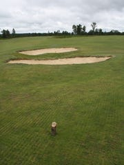 The tee box on the 10th hole on the Red course sits