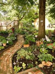 The home backyard of Debbie Hendricks in Springfield.