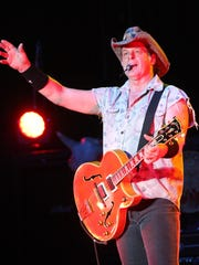 """Ted Nugent opened his Fremont concert with a rendition of """"The Star-Spangled Banner"""" and ended with his classic rocker """"Great White Buffalo."""""""