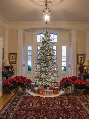 The Christmas tree at Ry'e Wainwright House, open for holiday tours