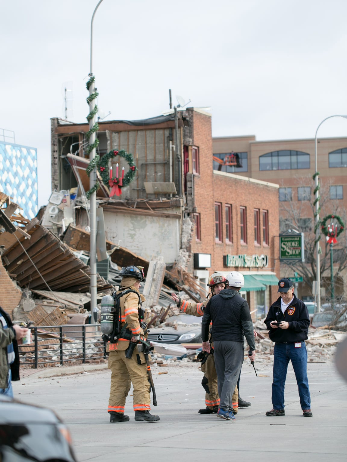 Copper Lounge building collapse in downtown Sioux Falls.