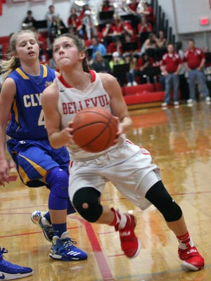 Bellevue's Casey Santoro earned honorable mention all-Ohio status in Division II.